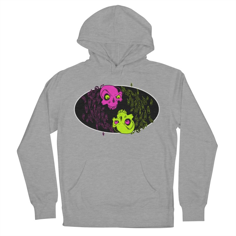 Two skulls (ok, it's a lot of skulls, but 2 big ones) Women's Pullover Hoody by mightywombat's Artist Shop