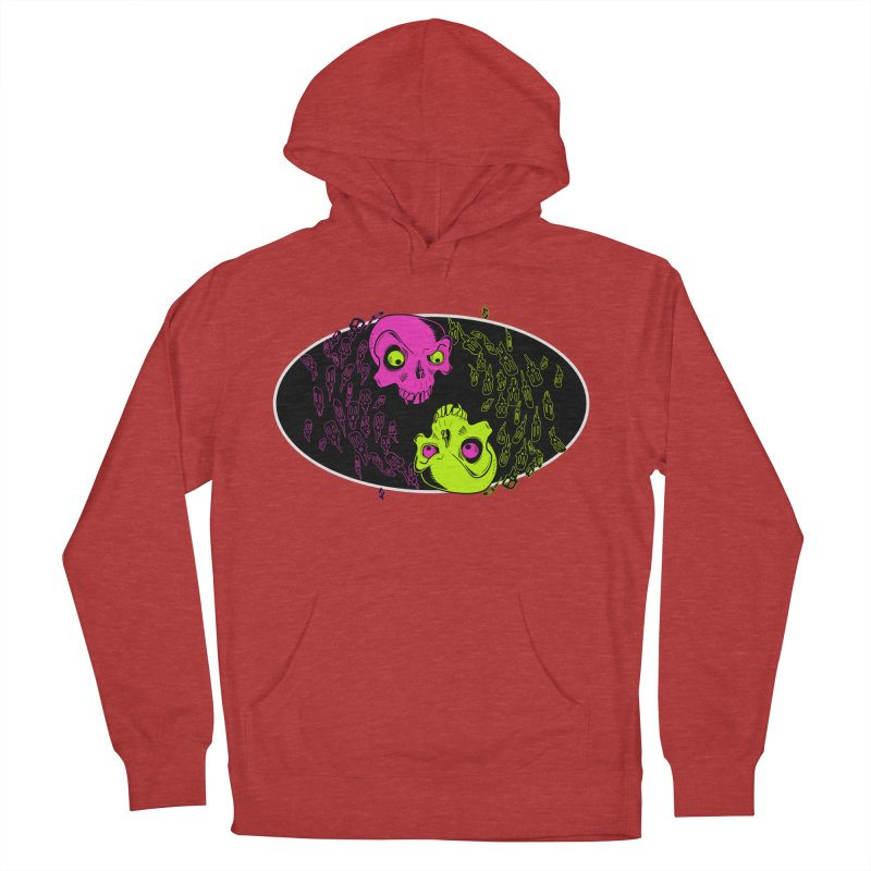 Two skulls (ok, it's a lot of skulls, but 2 big ones) Men's Pullover Hoody by mightywombat's Artist Shop
