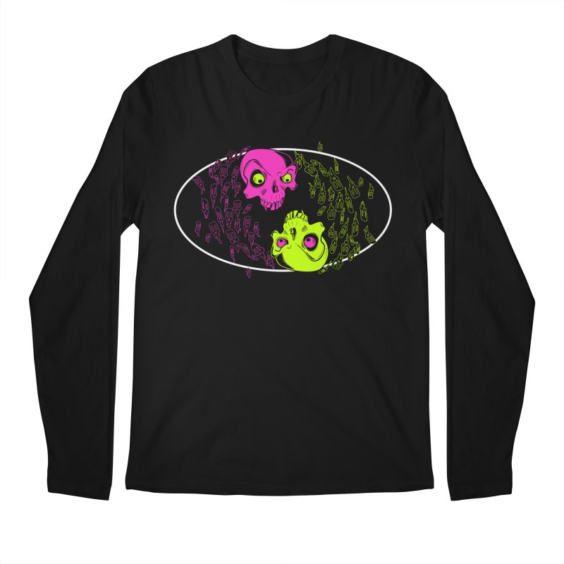 Two skulls (ok, it's a lot of skulls, but 2 big ones) Men's Longsleeve T-Shirt by mightywombat's Artist Shop