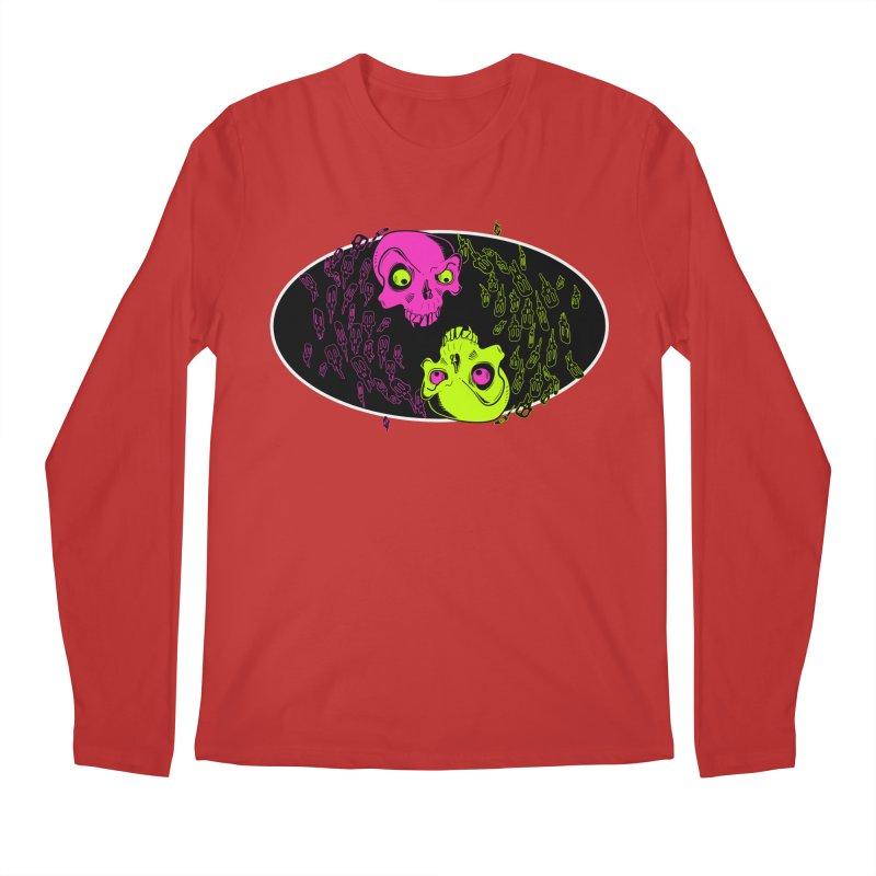 Two skulls (ok, it's a lot of skulls, but 2 big ones) Men's Longsleeve T-Shirt by Mightywombat's Artist Shop