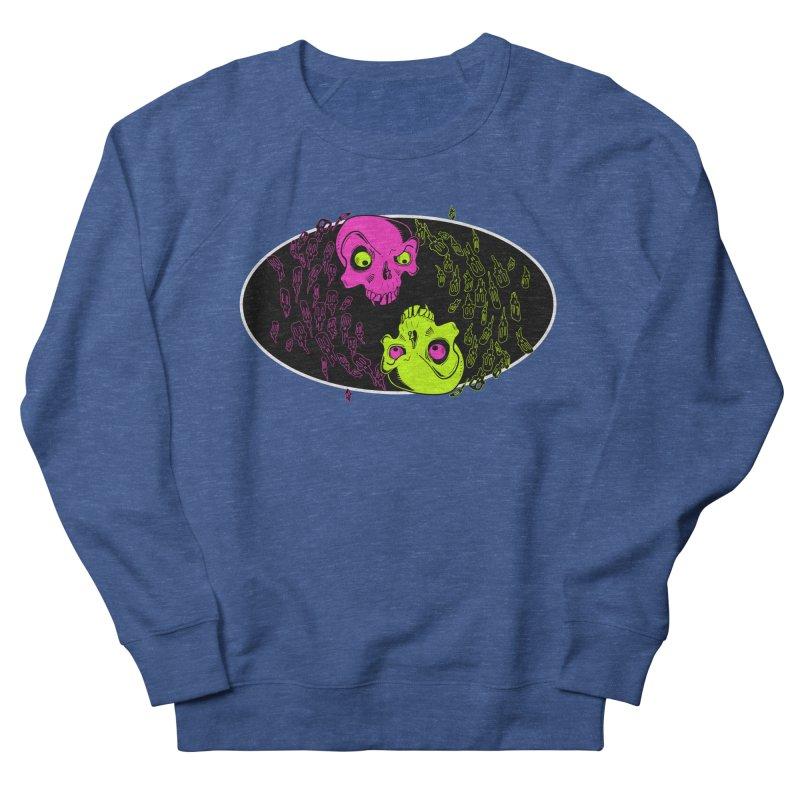 Two skulls (ok, it's a lot of skulls, but 2 big ones) Men's French Terry Sweatshirt by Mightywombat's Artist Shop