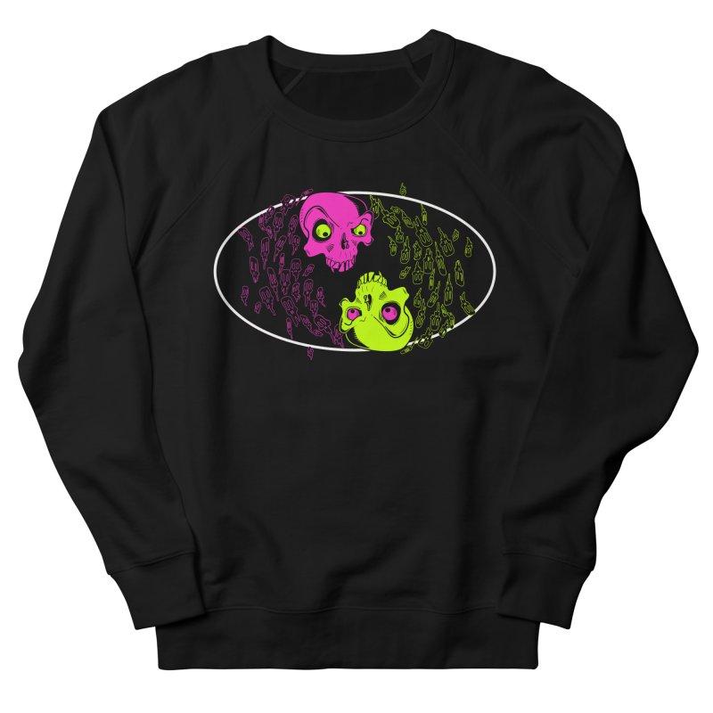 Two skulls (ok, it's a lot of skulls, but 2 big ones) Men's Sweatshirt by mightywombat's Artist Shop