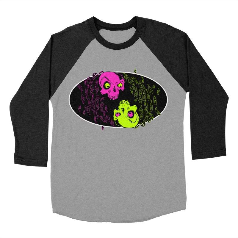 Two skulls (ok, it's a lot of skulls, but 2 big ones) Women's Baseball Triblend T-Shirt by Mightywombat's Artist Shop