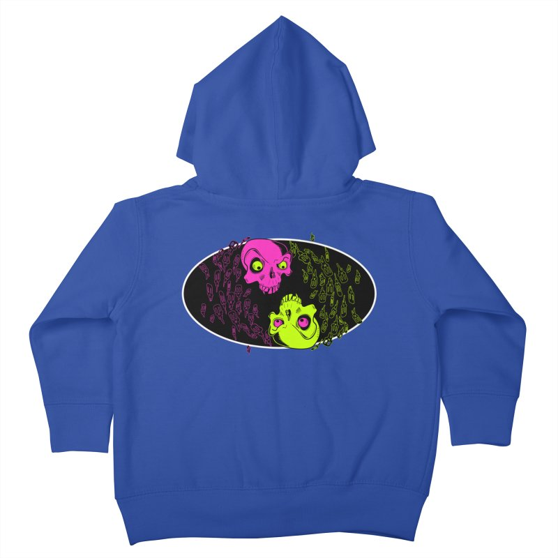 Two skulls (ok, it's a lot of skulls, but 2 big ones) Kids Toddler Zip-Up Hoody by mightywombat's Artist Shop