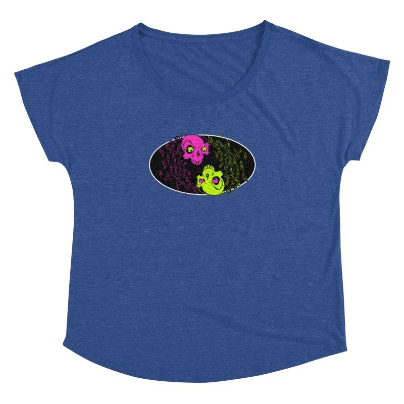 Two skulls (ok, it's a lot of skulls, but 2 big ones) Women's Dolman by Mightywombat's Artist Shop