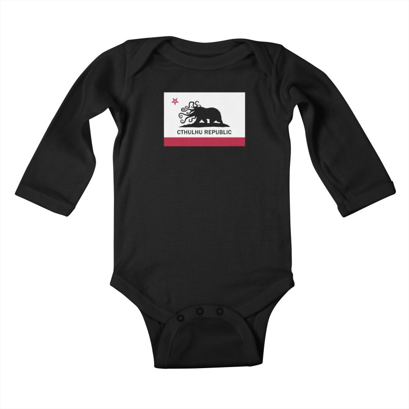 Cthulhu Republic Kids Baby Longsleeve Bodysuit by mightywombat's Artist Shop