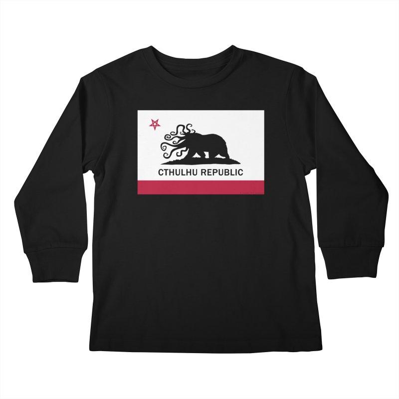 Cthulhu Republic Kids Longsleeve T-Shirt by Mightywombat's Artist Shop