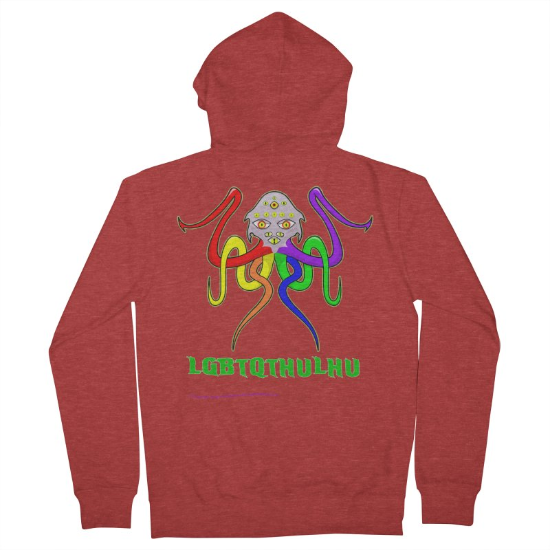 LGBTQTHULHU Men's Zip-Up Hoody by mightywombat's Artist Shop