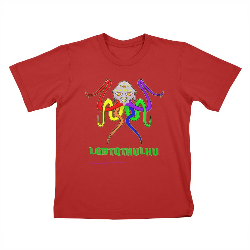 LGBTQTHULHU Kids T-shirt by mightywombat's Artist Shop
