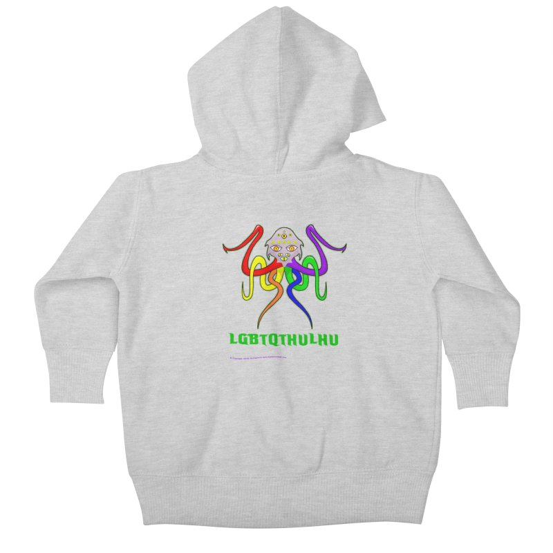 LGBTQTHULHU Kids Baby Zip-Up Hoody by mightywombat's Artist Shop