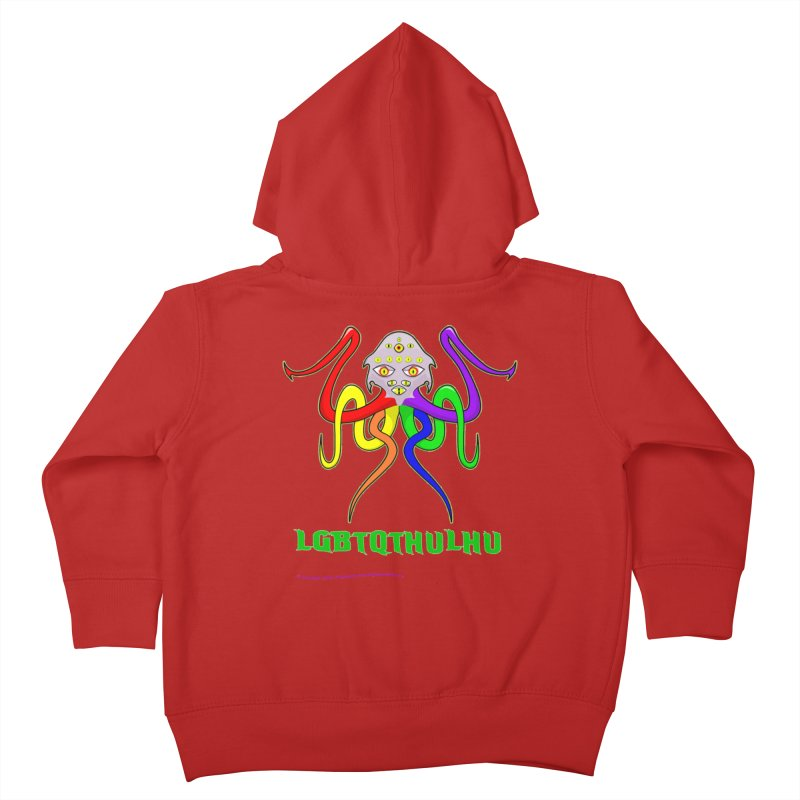 LGBTQTHULHU Kids Toddler Zip-Up Hoody by mightywombat's Artist Shop