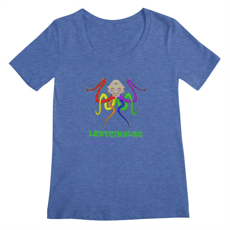 LGBTQTHULHU Women's Scoopneck by mightywombat's Artist Shop