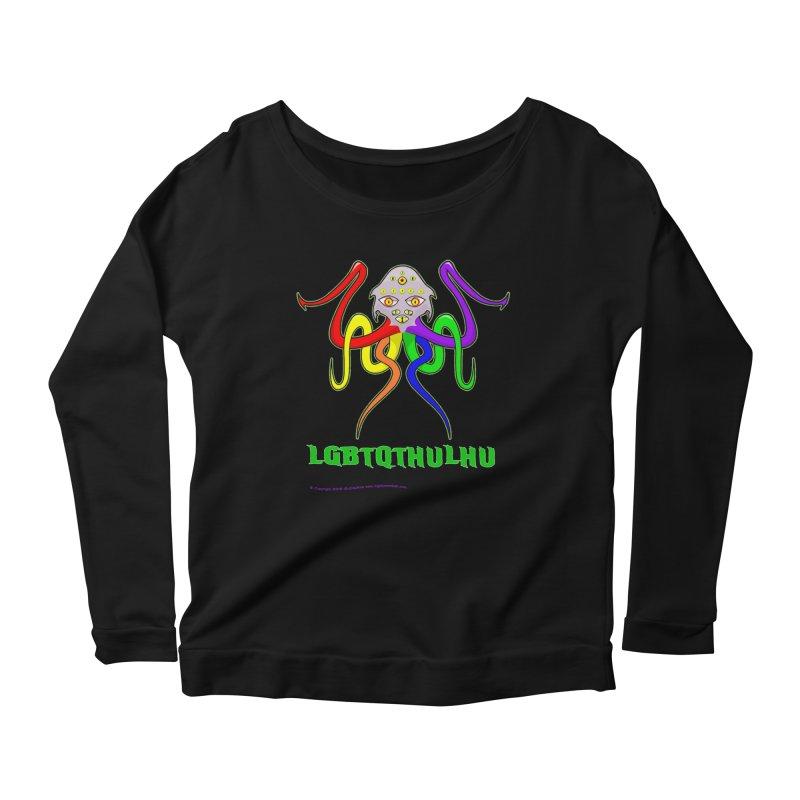LGBTQTHULHU Women's Scoop Neck Longsleeve T-Shirt by Mightywombat's Artist Shop