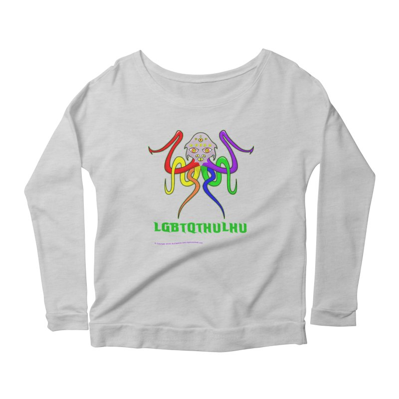 LGBTQTHULHU Women's Scoop Neck Longsleeve T-Shirt by Mightywombat's Artist Shop