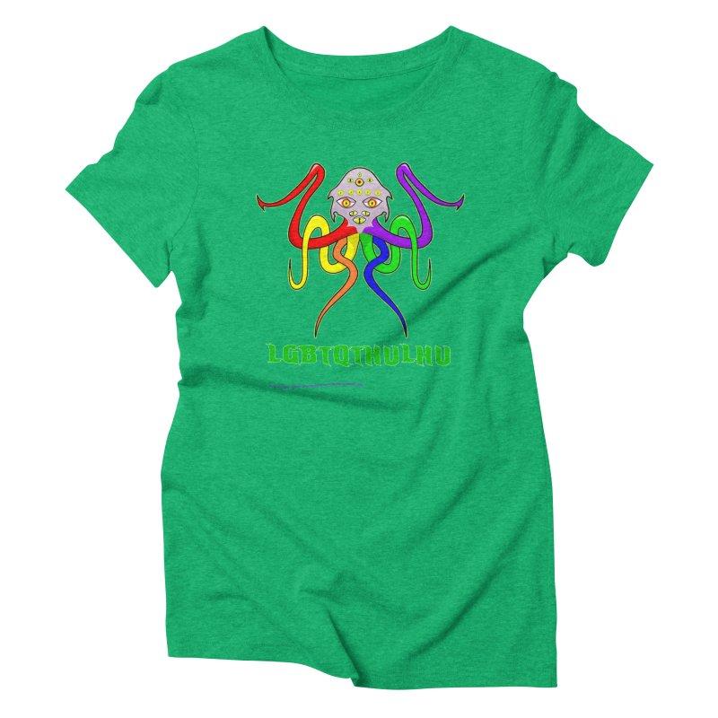 LGBTQTHULHU Women's Triblend T-Shirt by Mightywombat's Artist Shop