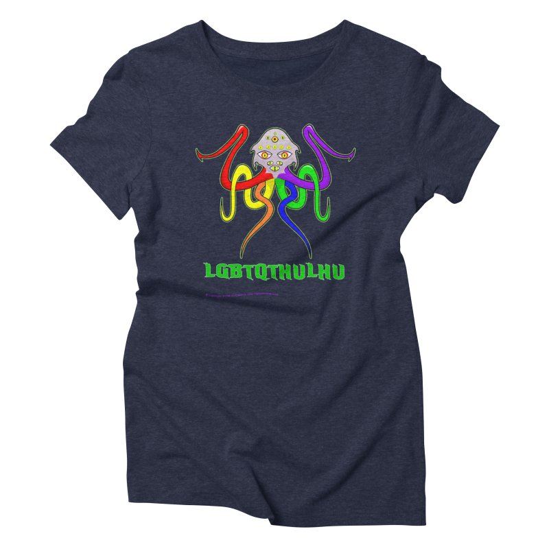 LGBTQTHULHU Women's Triblend T-Shirt by Mightywombat's Artist Shop