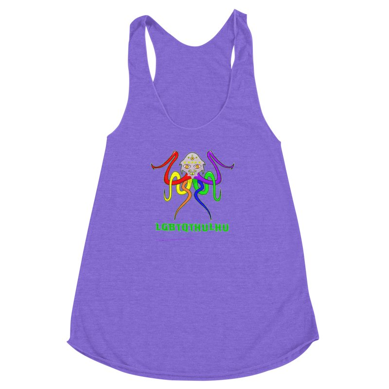 LGBTQTHULHU Women's Racerback Triblend Tank by mightywombat's Artist Shop