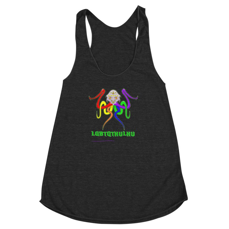 LGBTQTHULHU Women's Racerback Triblend Tank by mightywombat's Artist Shop