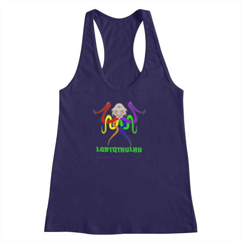 LGBTQTHULHU Women's Racerback Tank by mightywombat's Artist Shop