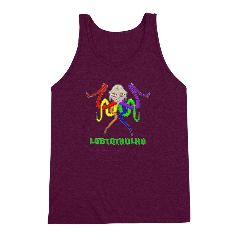 LGBTQTHULHU Men's Triblend Tank by Mightywombat's Artist Shop