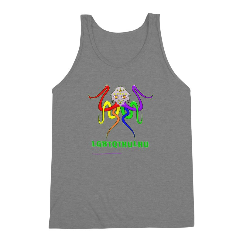 LGBTQTHULHU Men's Triblend Tank by mightywombat's Artist Shop