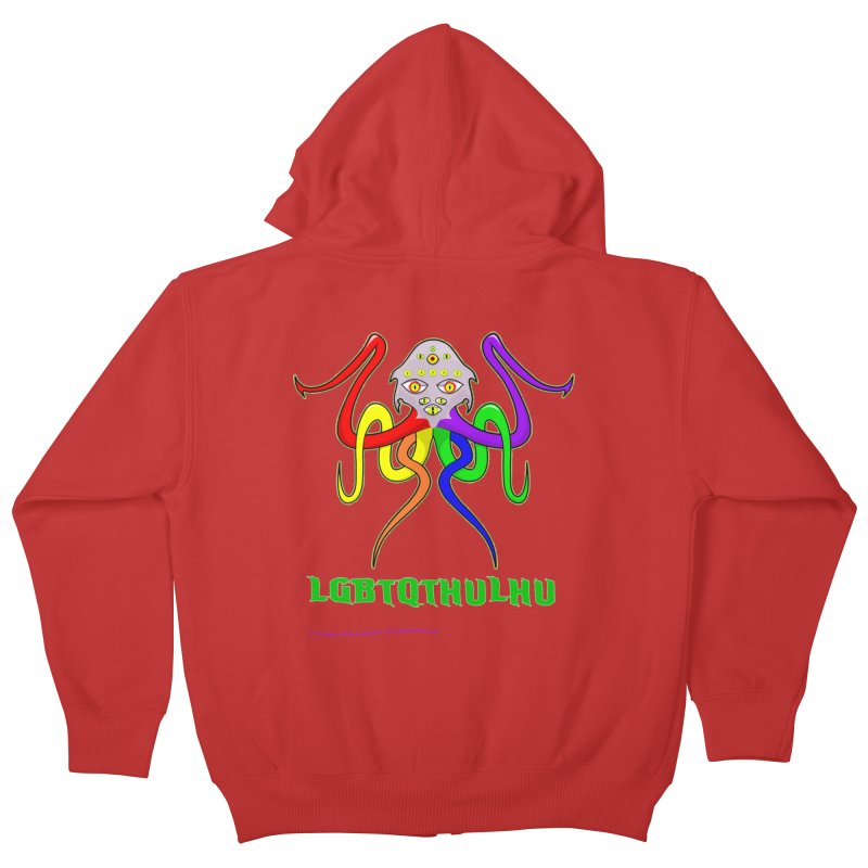 LGBTQTHULHU Kids Zip-Up Hoody by mightywombat's Artist Shop
