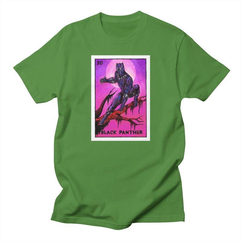 Black Panther Men's T-Shirt by Miguel Valenzuela