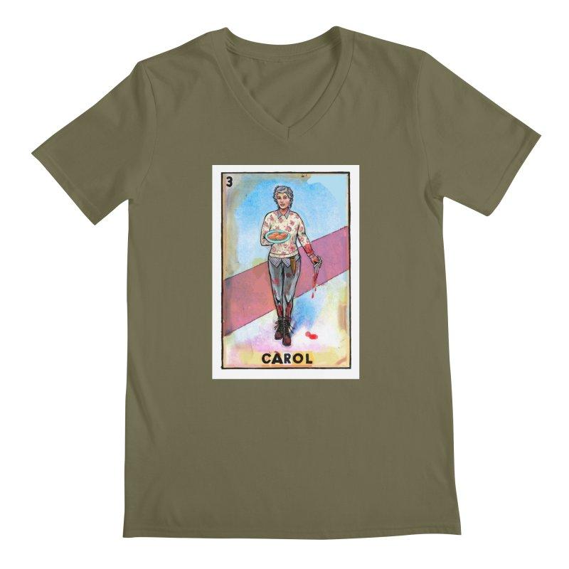 Carol Men's V-Neck by Miguel Valenzuela