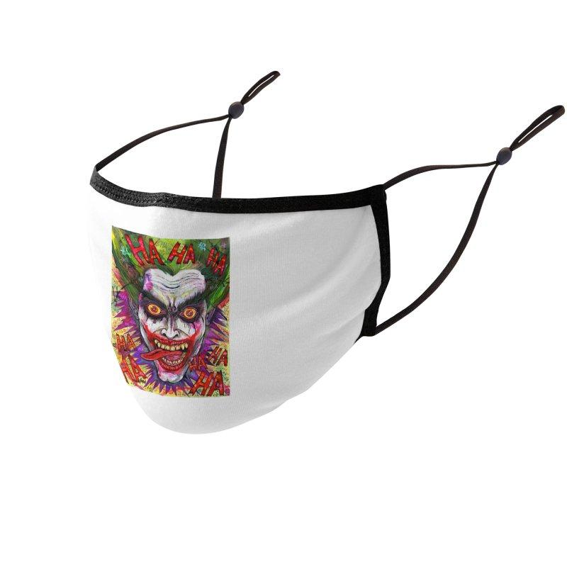 The Joker portrait Accessories Face Mask by Miguel Valenzuela