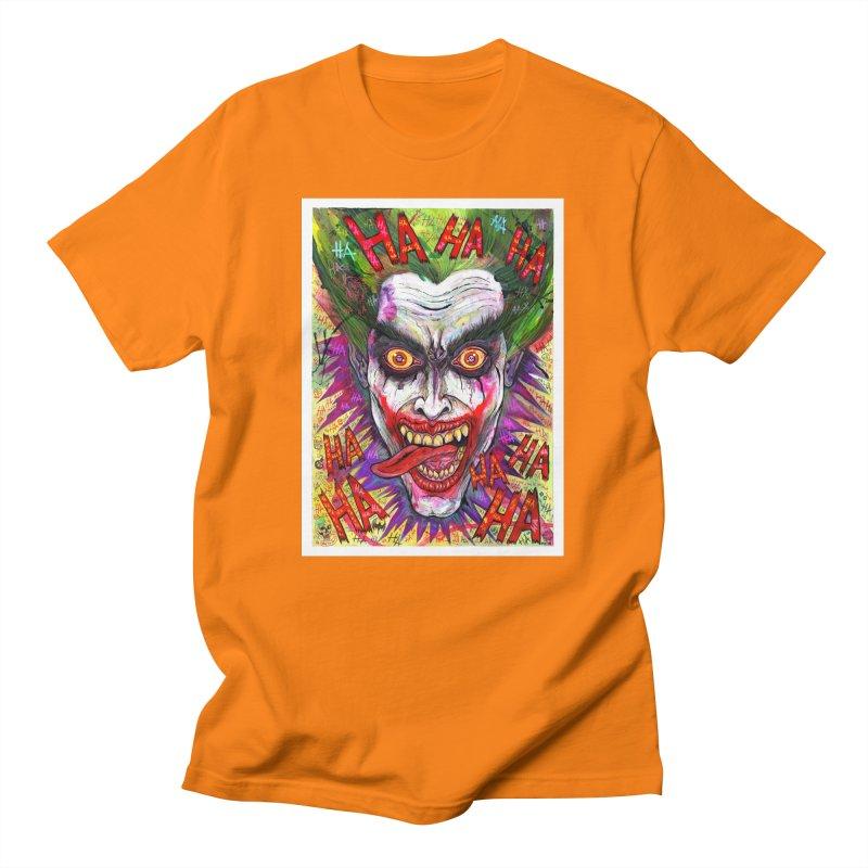 The Joker portrait Men's T-Shirt by Miguel Valenzuela