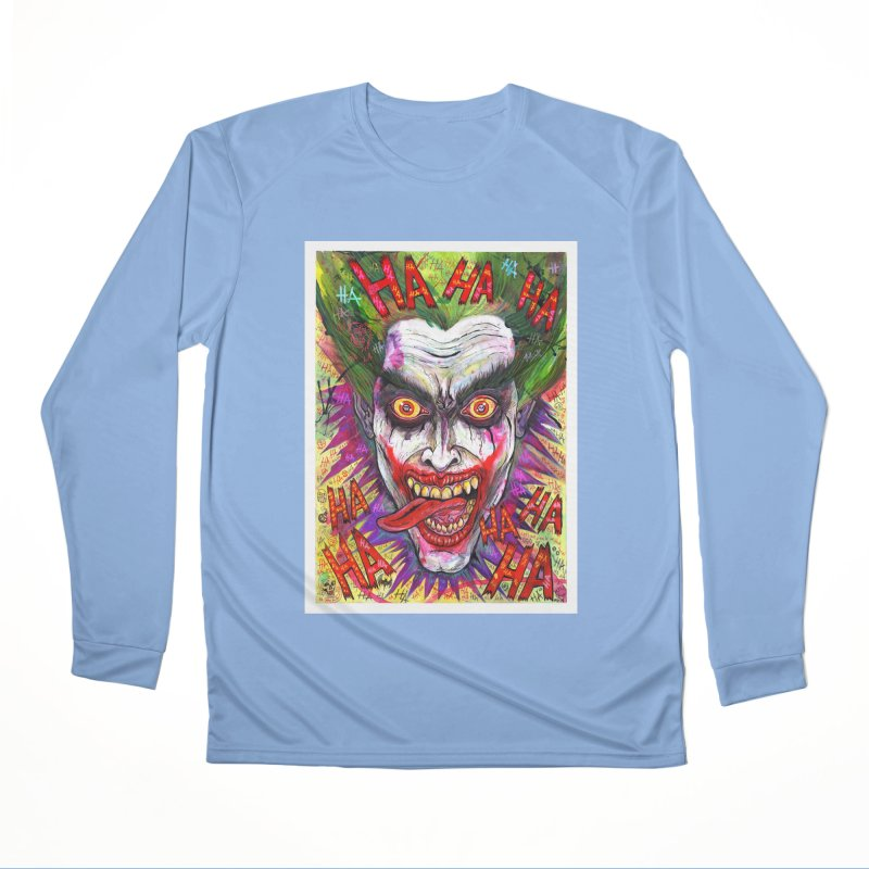 The Joker portrait Women's Longsleeve T-Shirt by Miguel Valenzuela