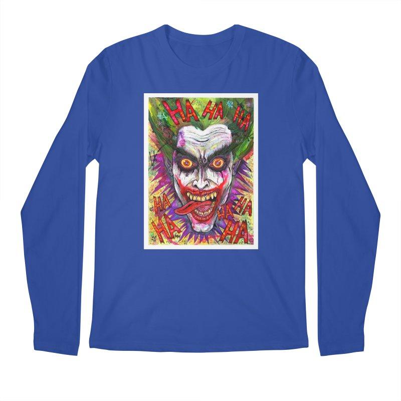 The Joker portrait Men's Longsleeve T-Shirt by Miguel Valenzuela