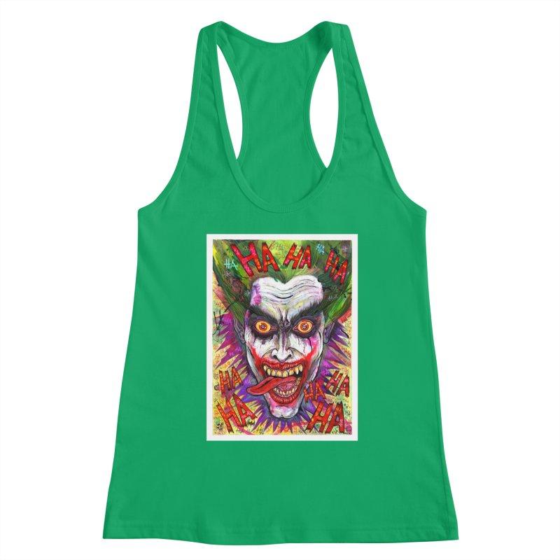The Joker portrait Women's Tank by Miguel Valenzuela
