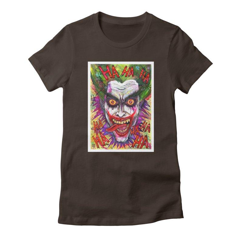 The Joker portrait Women's T-Shirt by Miguel Valenzuela
