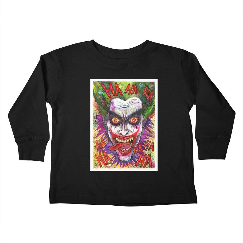The Joker portrait Kids Toddler Longsleeve T-Shirt by Miguel Valenzuela