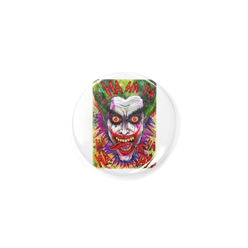 The Joker portrait Accessories Button by Miguel Valenzuela