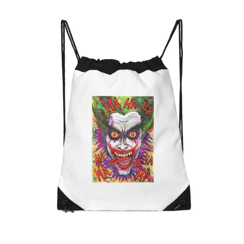 The Joker portrait Accessories Bag by Miguel Valenzuela