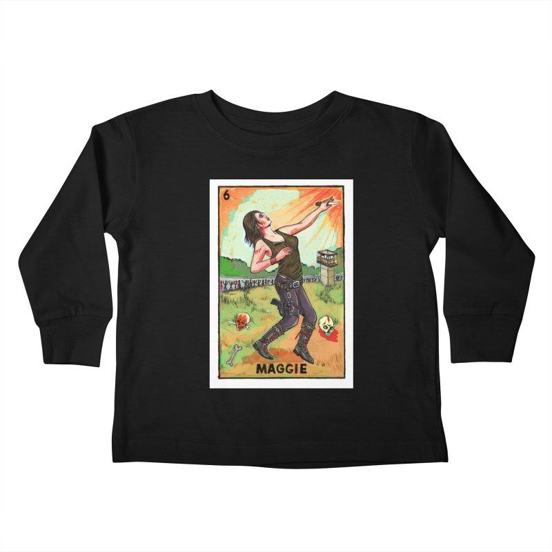 Maggie Kids Toddler Longsleeve T-Shirt by Miguel Valenzuela