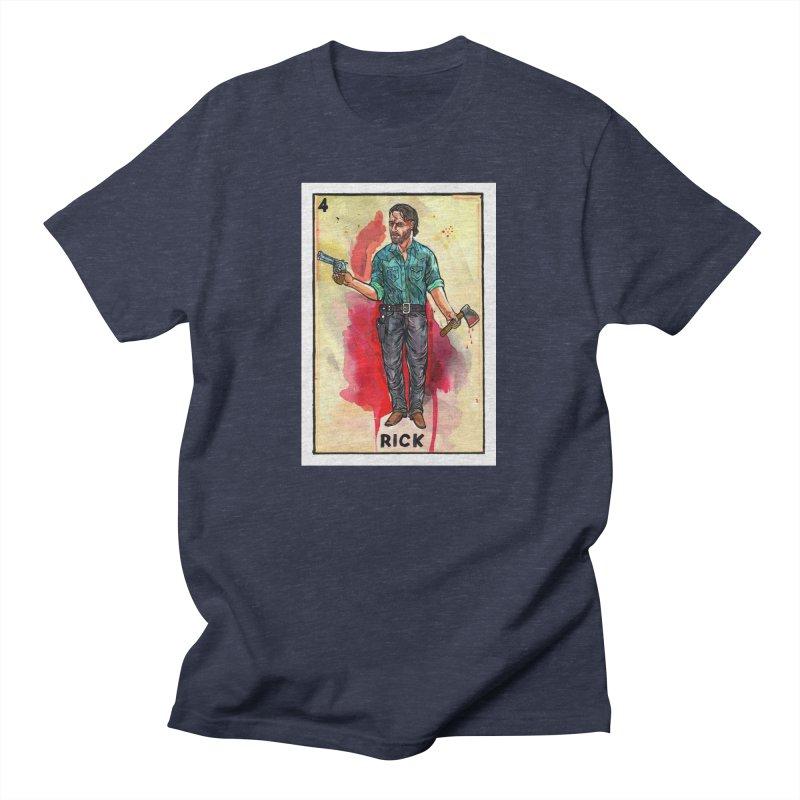 Rick Grimes Men's T-Shirt by Miguel Valenzuela