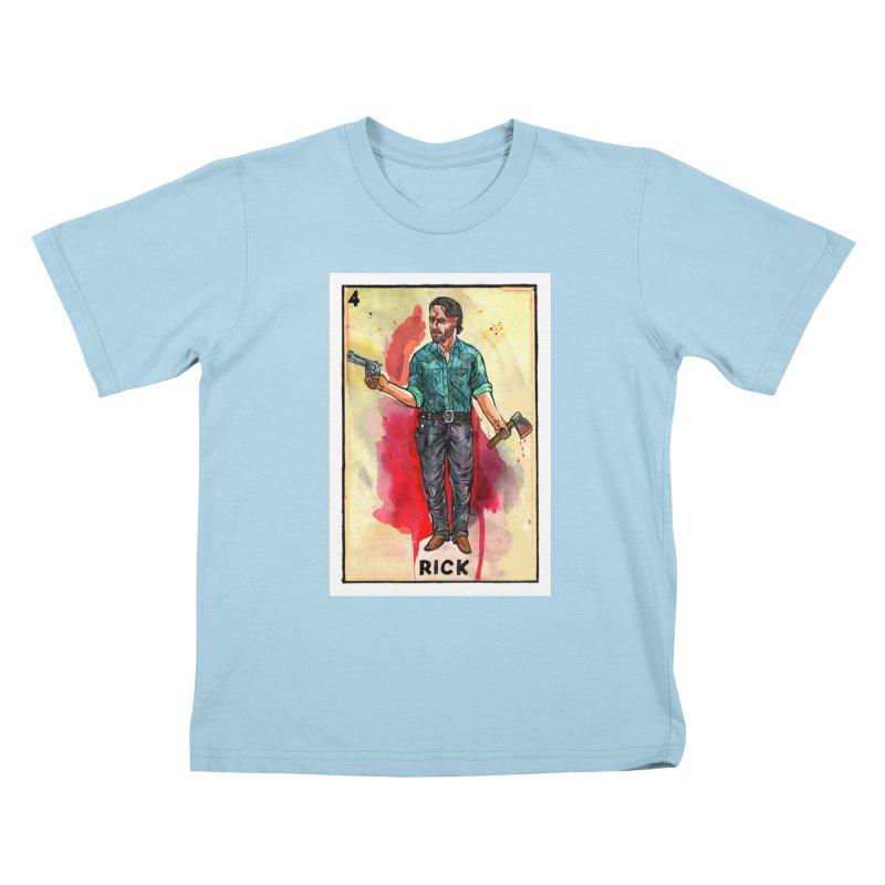 Rick Grimes Kids T-Shirt by Miguel Valenzuela