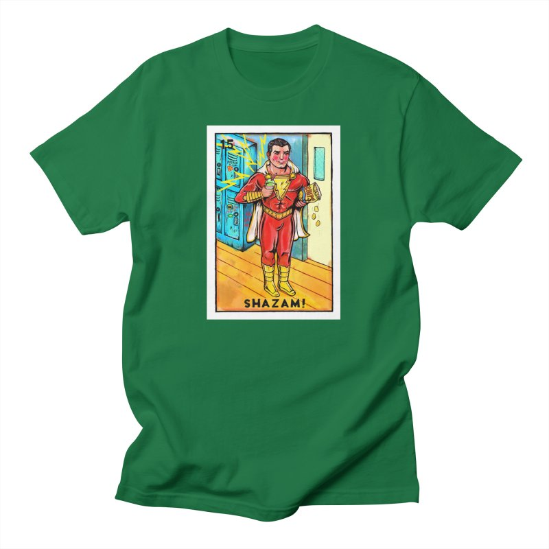 Shazam! Men's T-Shirt by Miguel Valenzuela