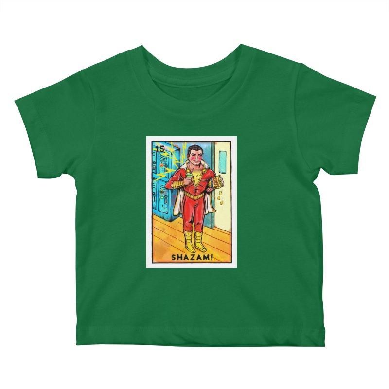 Shazam! Kids Baby T-Shirt by Miguel Valenzuela