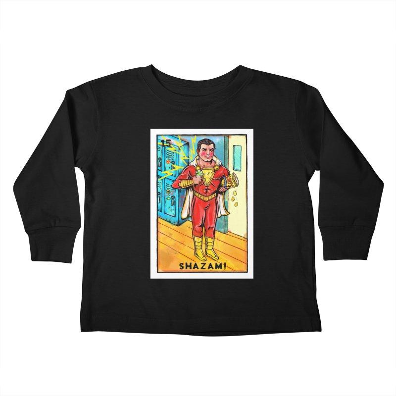 Shazam! Kids Toddler Longsleeve T-Shirt by Miguel Valenzuela
