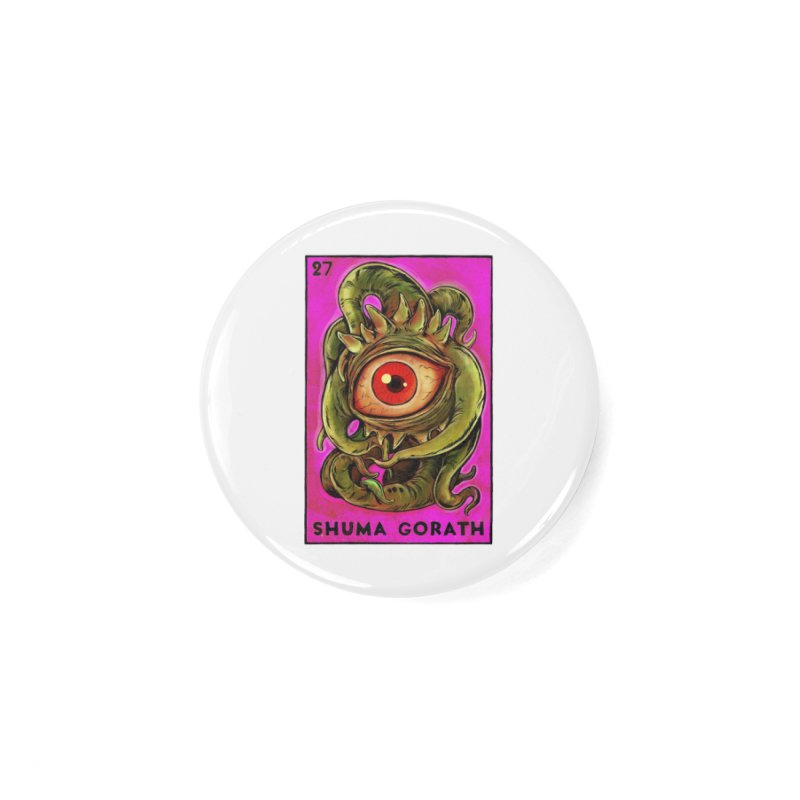 Shuma Gorath Accessories Button by Miguel Valenzuela