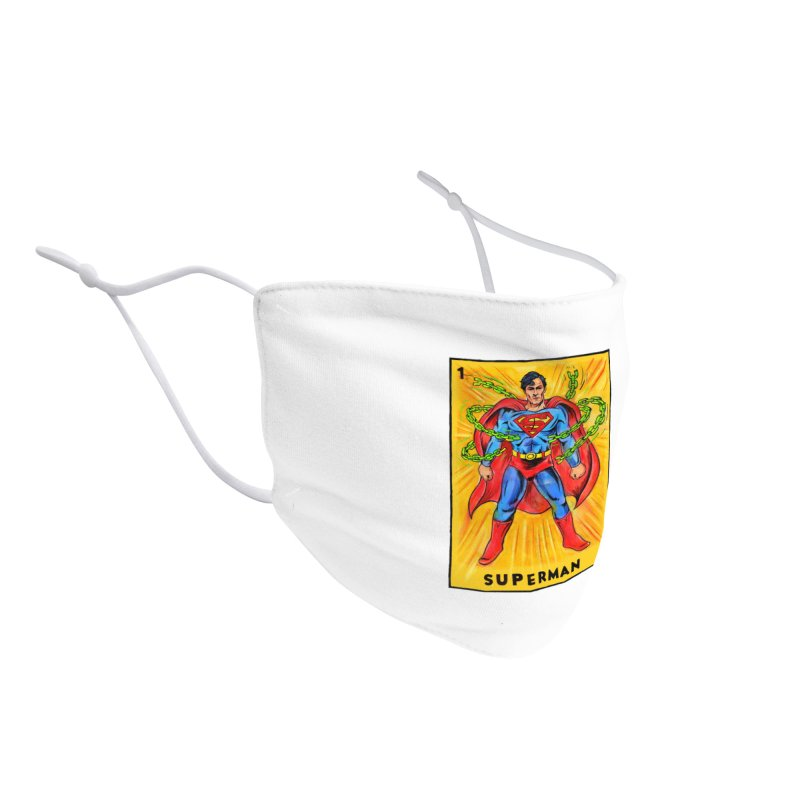 Superman Accessories Face Mask by Miguel Valenzuela