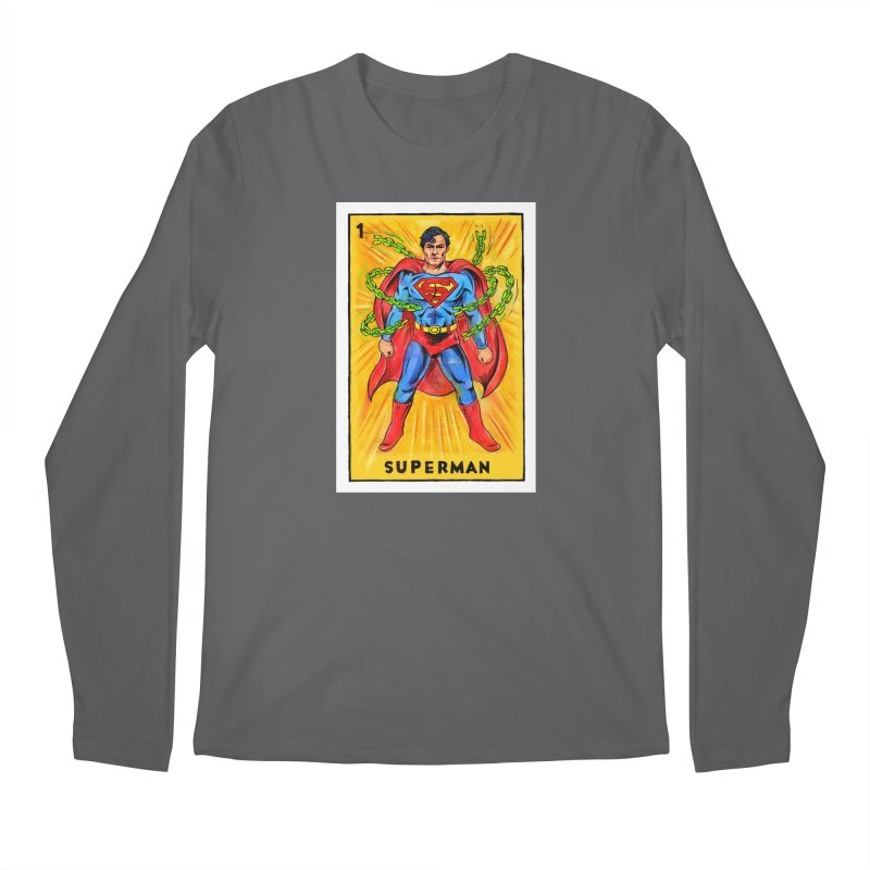 Superman Men's Longsleeve T-Shirt by Miguel Valenzuela