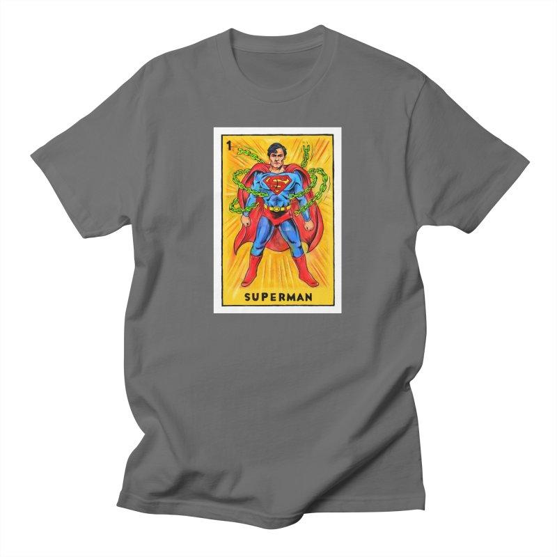 Superman Men's T-Shirt by Miguel Valenzuela