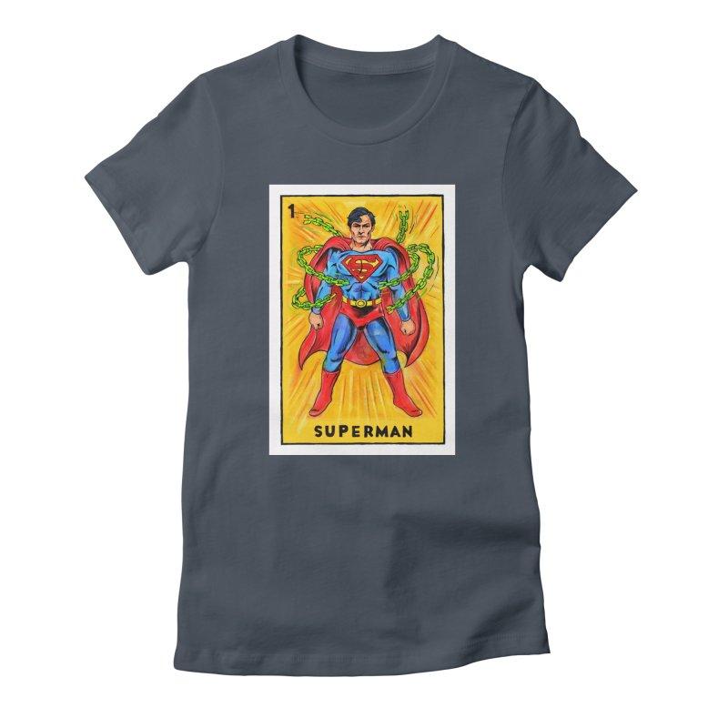Superman Women's T-Shirt by Miguel Valenzuela