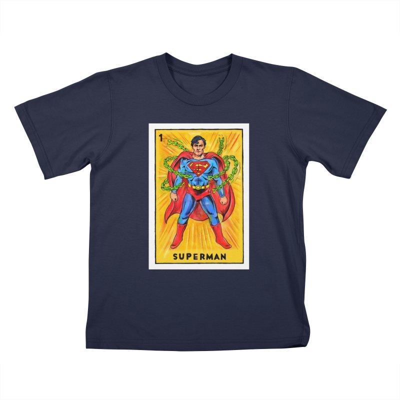 Superman Kids T-Shirt by Miguel Valenzuela