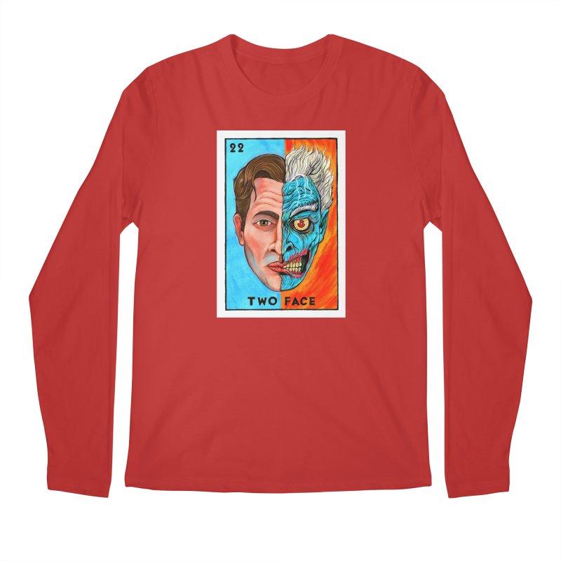 Two Face Men's Longsleeve T-Shirt by Miguel Valenzuela